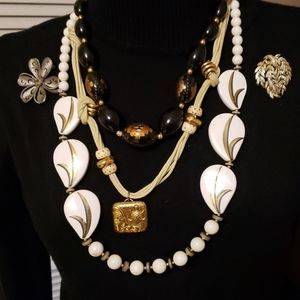 Lot of Vintage Jewelry 80s style